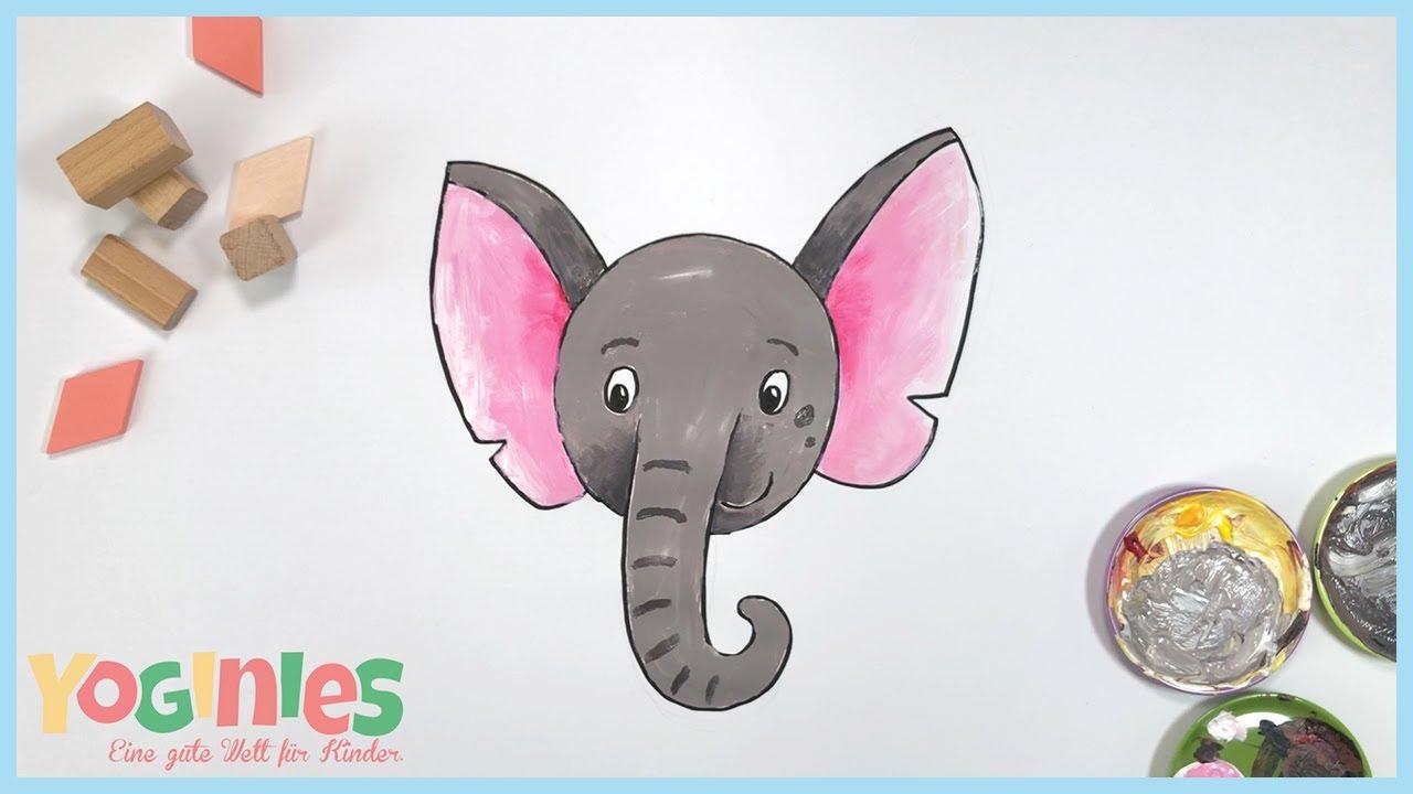 Yoginies Stampf Stampf Stampf So Wie Ein Elefant Yoga Mit Kindern Malvideo Youtube