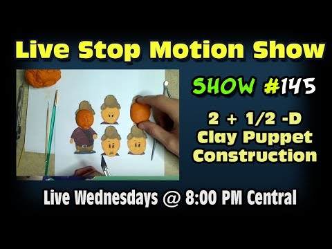Live Stop Motion Chat Podcast #145 Working on Our Short Film Again...
