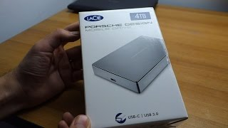 LaCie Porsche Design 4TB USB 3.0 portable external hard drive unboxing, impressions and speed tests