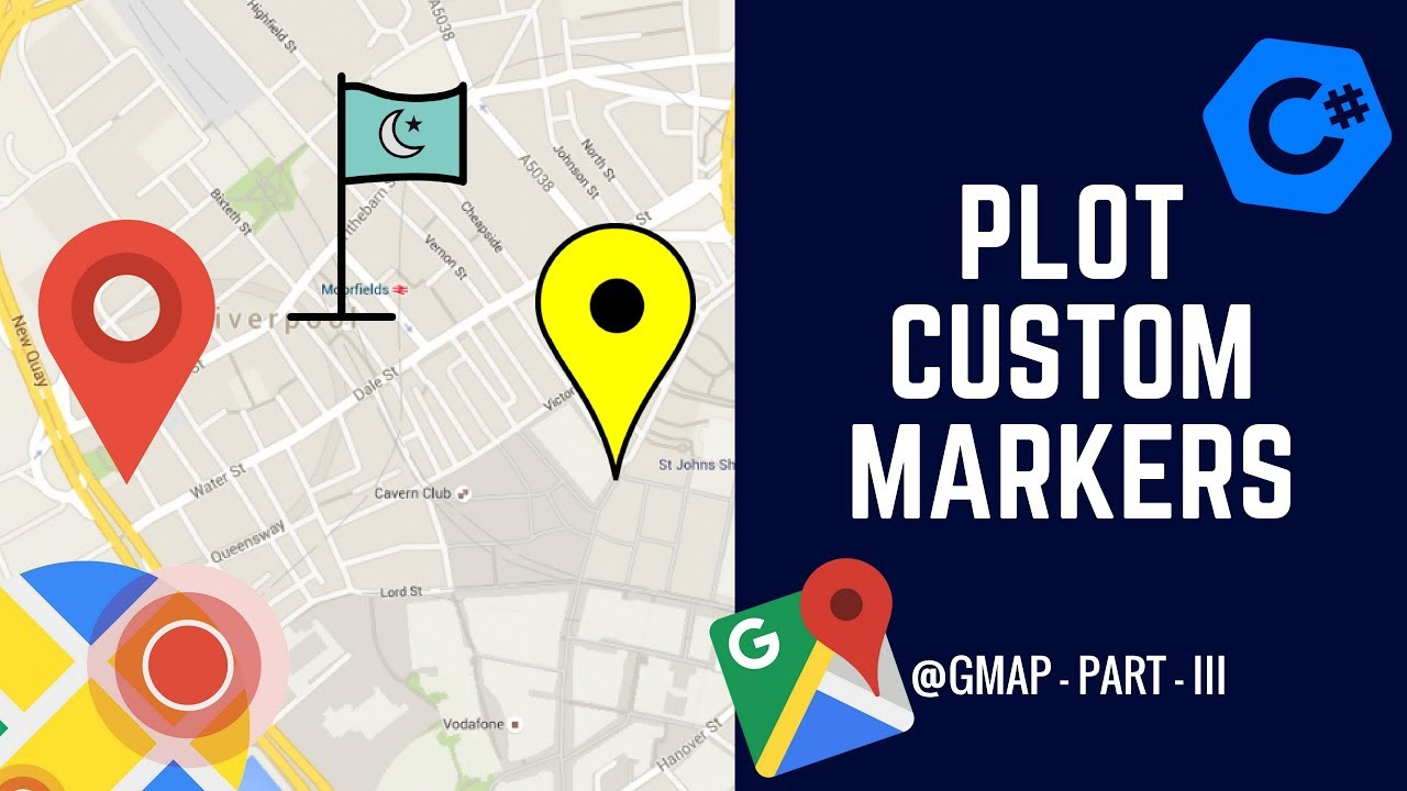 C# - GMAP - How to Create a Custom Marker? - GMap Part III