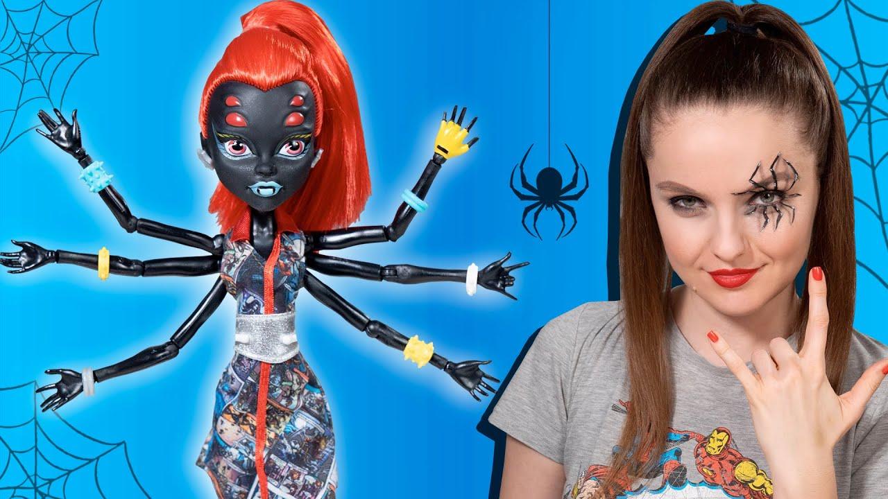 Кукла ПАУК с 6 руками   Обзор и распаковка Monster High Wydowna Spider I Love Fashion