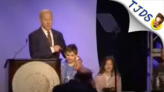 "Creepy Joe Biden Says Child Gave Him ""Permission To Touch Him""!"