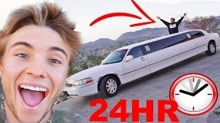 24HR LIMOUSINE CHALLENGE! (CRAZIEST NIGHT EVER...)