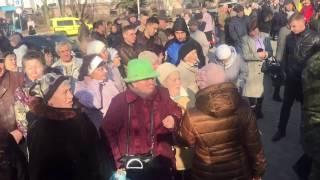 Митинги за и против тороговой  блокады в Краматорске