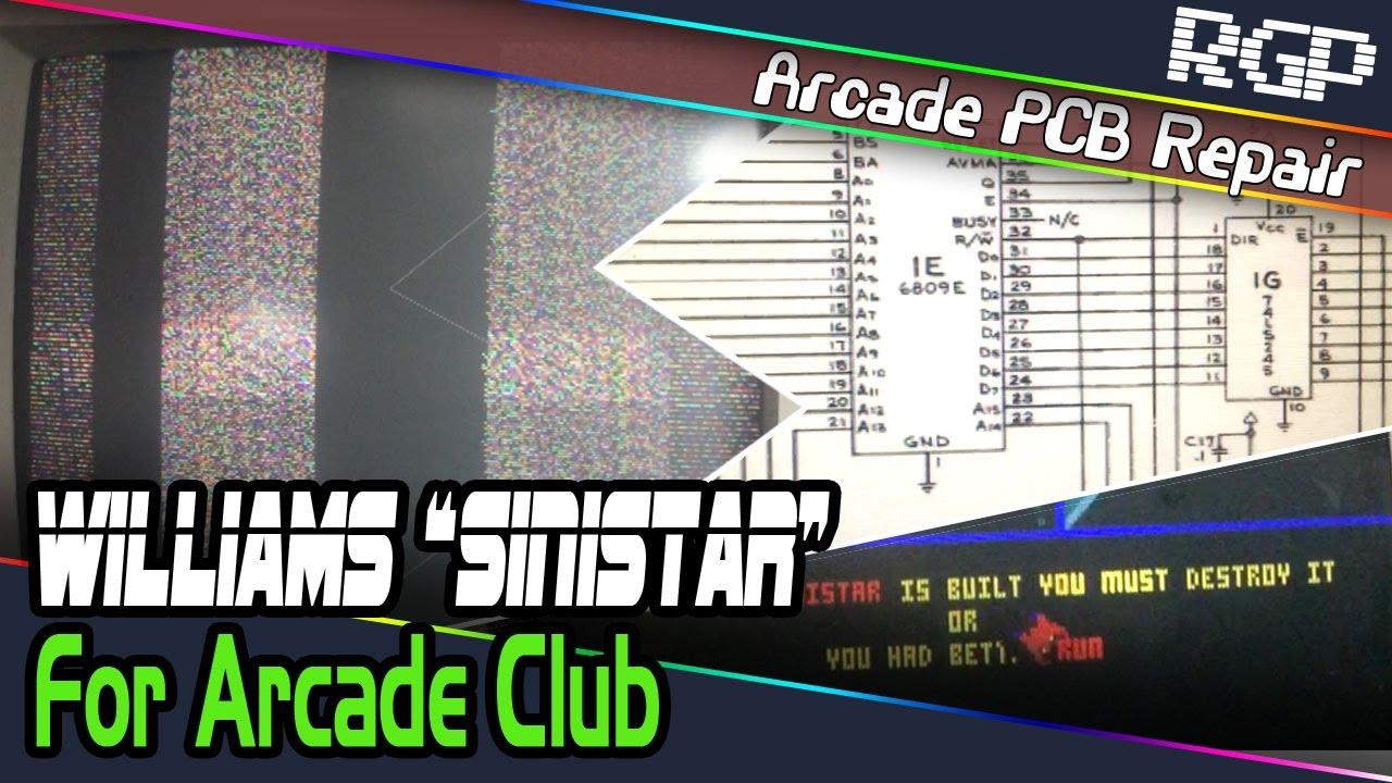 Williams Sinistar (1982) Arcade PCB Repair for Arcade Club, Bury