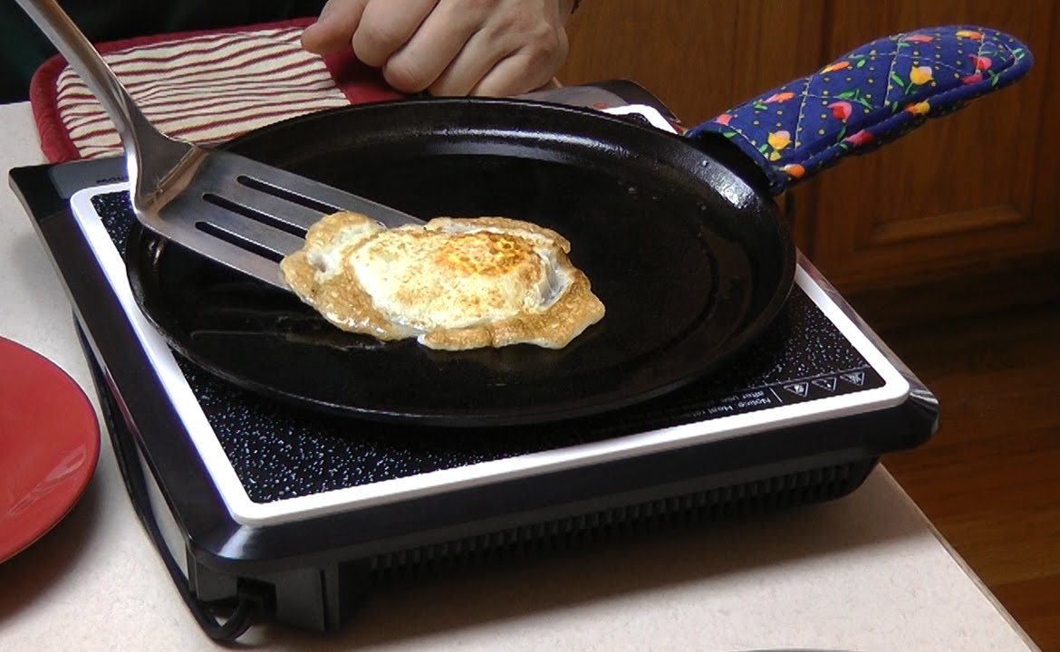 Cooking On Induction Cooktop Part - 20: How To Cook Eggs In Cast Iron Pans On An Induction Cooktop - YouTube