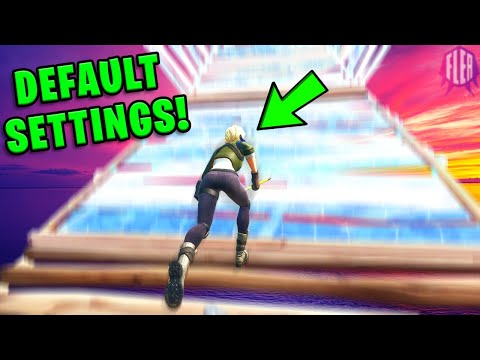 Trying The *DEFAULT* Settings On Fortnite...