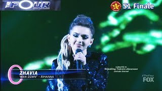 Download lagu Zhavia sings Man Down Rihanna cover with her boots off The Four Finale