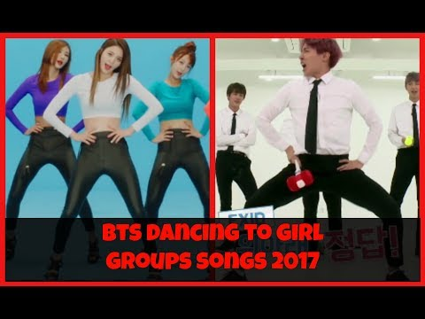 BTS () dancing to girl groups' songs 2017
