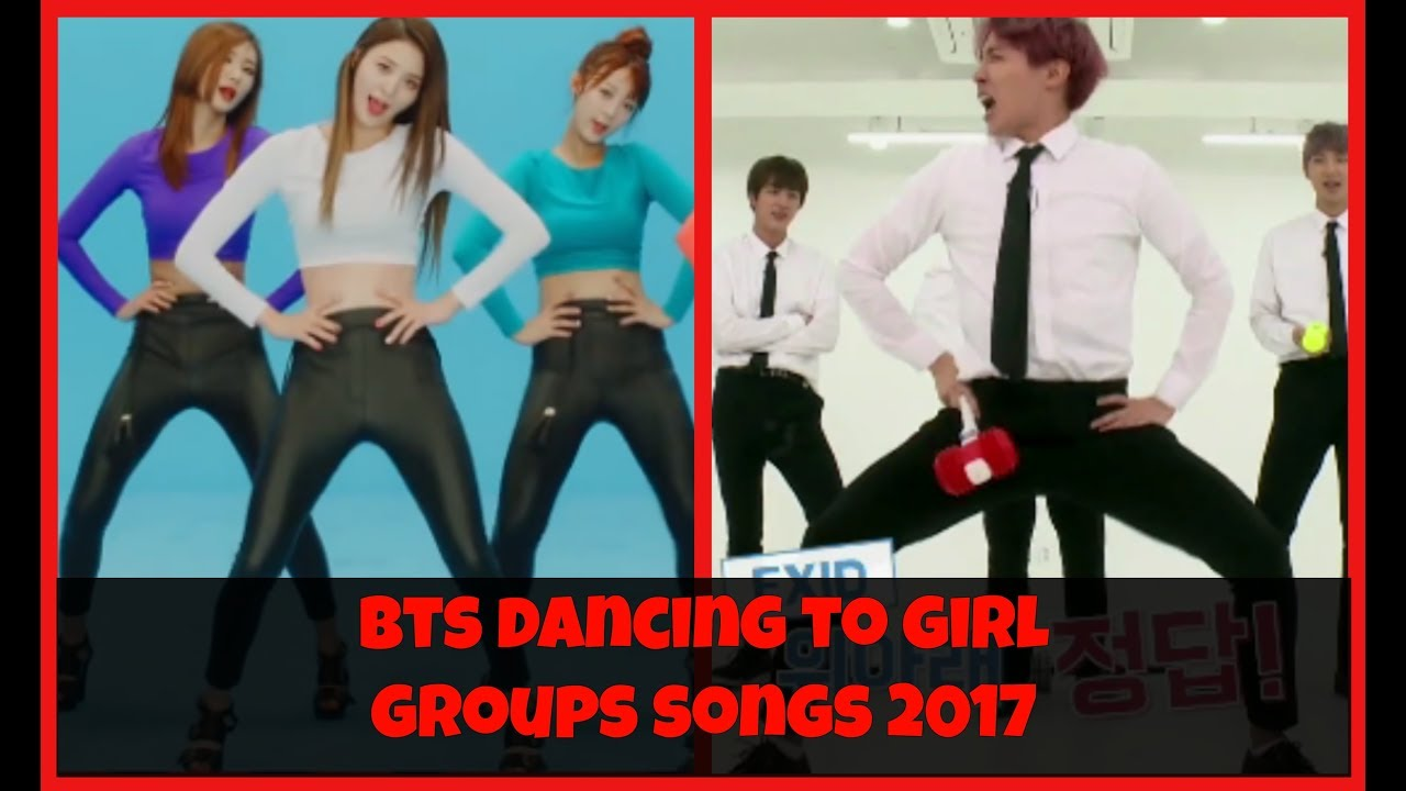 ? BTS (방탄소년단) dancing to girl groups' songs 2017 ?