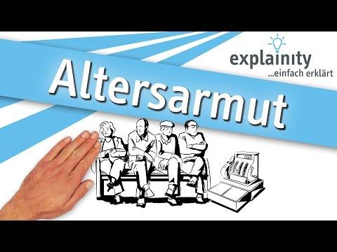 Altersarmut einfach erklärt (explainity® Erklärvideo)