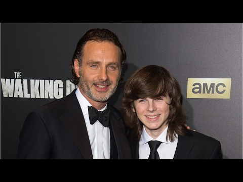 Andrew Lincoln Pops In For Chandler Riggs' Graduation Party