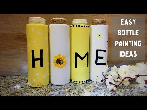 easy-bottle-painting-ideas-|-diy-bottle-painting-|painted-bottles