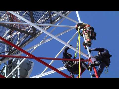 Va. Beach fire fighters train on 300-foot radio tower