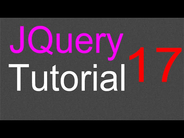 JQuery Tutorial for Beginners - 17 - Attribute methods