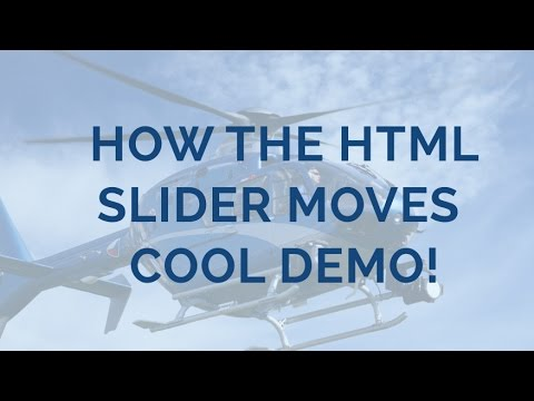 How The HTML Slider Moves - Cool Demo!