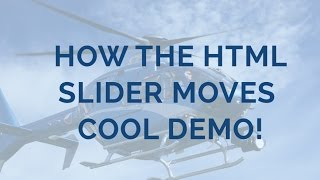 How the HTML Slider moves - Cool Demo! thumbnail