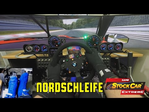 Game Stock Car - Nordschleife - Nissan GTR Super GT with GoPro POV and pedal cam