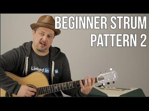 Beginner Strumming Patterns For Acoustic Guitar Pattern 2  Beginner Guitar Lessons