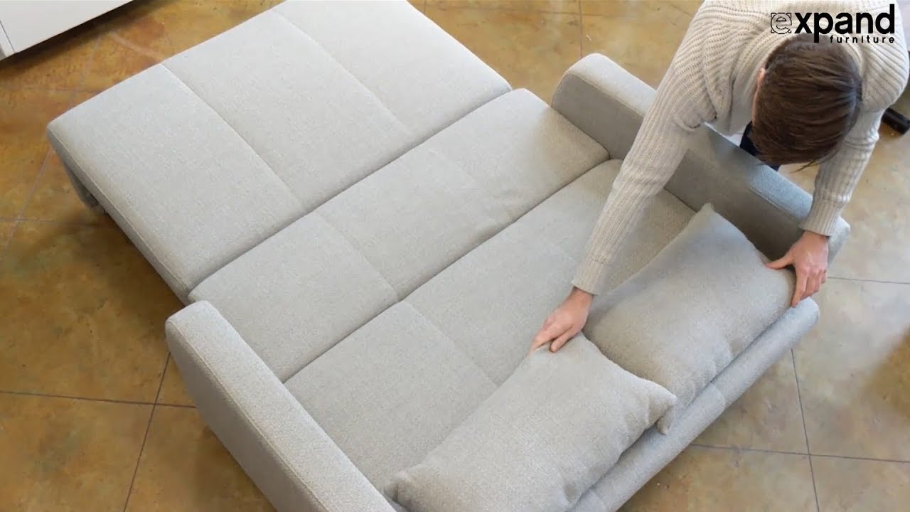 Talia Sofa Bed Easy Open With Storage - YouTube