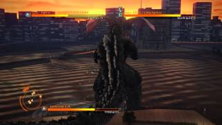 GODZILLA PS4 versus mode : Godzilla 90's ( spiral ) vs. Kiryu vs. Destroyah