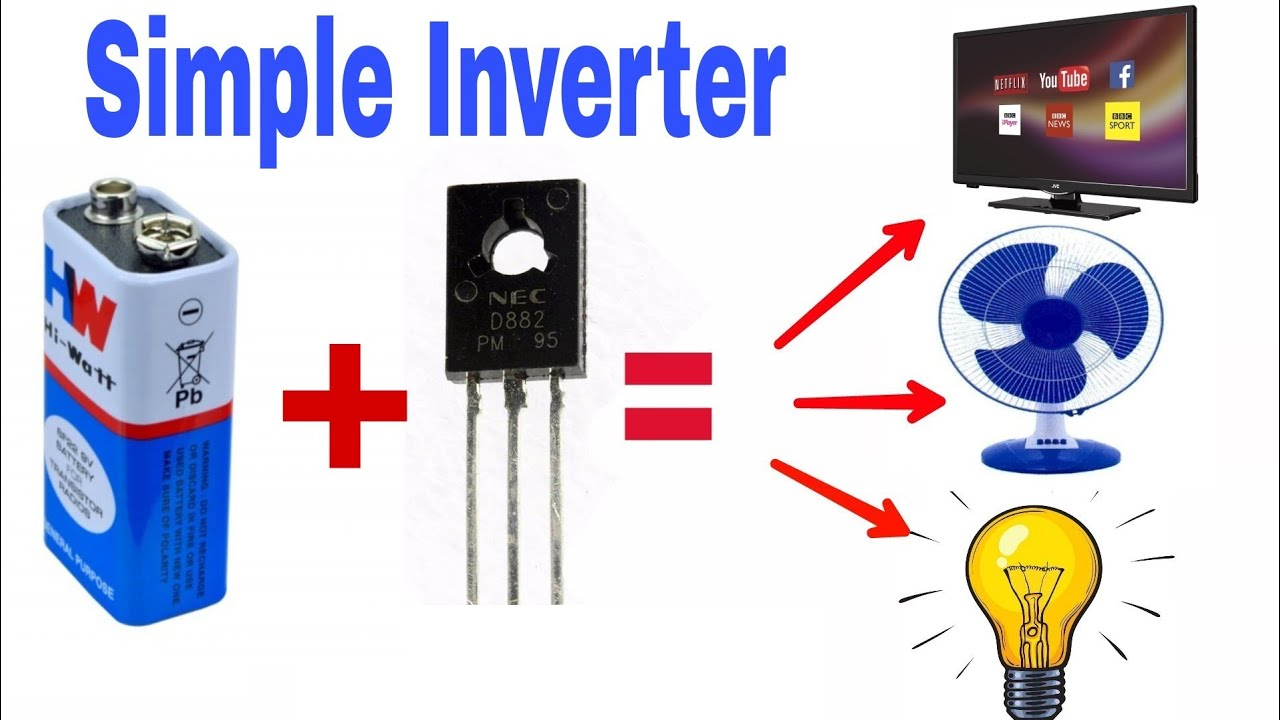 [SCHEMATICS_43NM]  Mini DC to AC inverter 220 volt AC with TV , LED , Fan - YouTube   Inverter Circuit Diagram Youtube      YouTube
