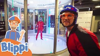 Blippi Goes Indoor Skydiving | Fun and Educational Videos For Kids