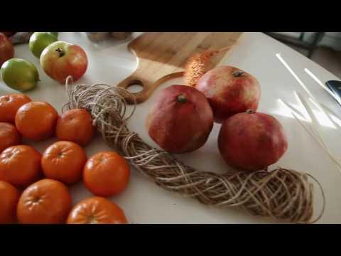 Как делать фруктовый букет, овощной букет. Мк по фруктовому букету.