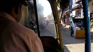 Rickshaw through Jew Town, Fort Cochin, Kerala