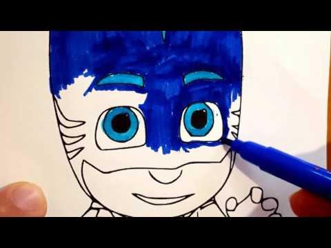 Super Pigiamini Pj Masks Coloring cartoni animati