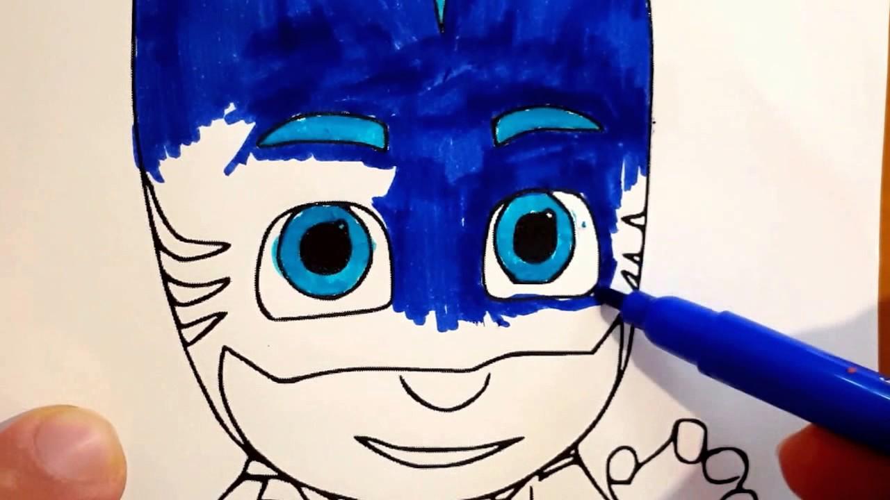 Super pigiamini pj masks coloring cartoni animati youtube