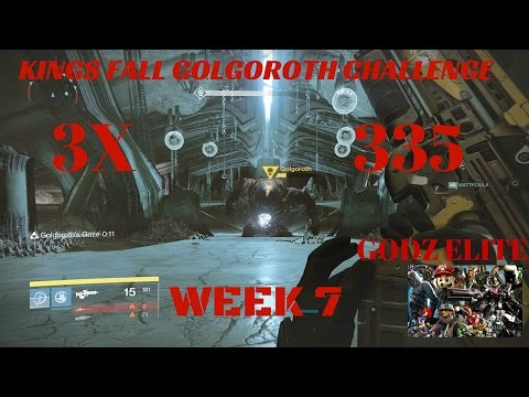Destiny Kings Fall Golgoroth Challenge with 3x 335 loot