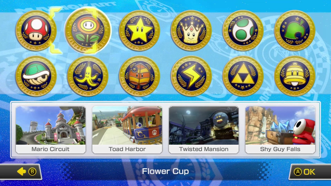 mario kart  deluxe cc time trials  tracks youtube
