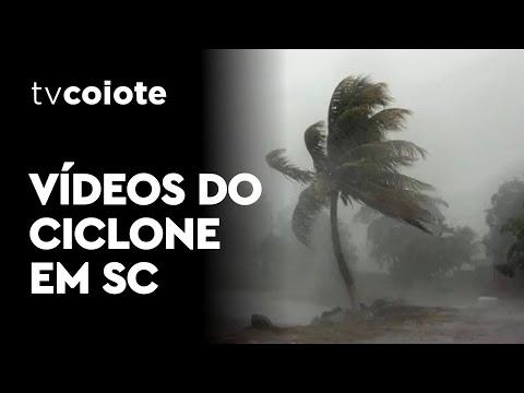 VÍDEOS DO CICLONE EM SANTA CATARINA - HOJE 30/06/20