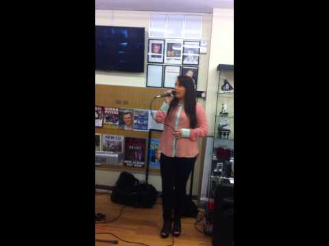 Alanna Quinn performing in omagh