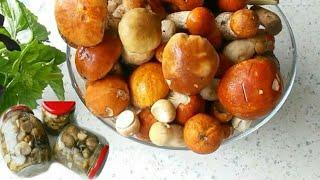 Маринованные грибы. Заготовки на зиму. Любимый рецепт.