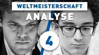 Caruana - Carlsen Partie 4 Schach WM 2018 | Großmeister-Analyse