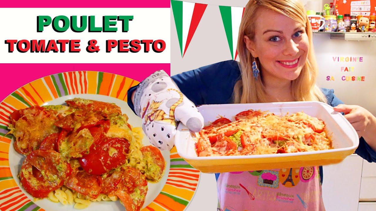 Poulet pesto tomates recette de cuisine facile et rapide for La cuisine de virginie