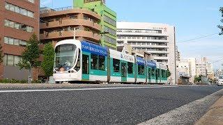 広島電鉄5100形5102号『アイザワ証券 ラッピング』日赤病院前〜広電本社前