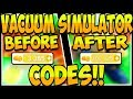 🚨ALL SECRET CODES ON VACUUM SIMULATOR🔥Vacuum Simulator!✨ [NEW]🚨Roblox🔥