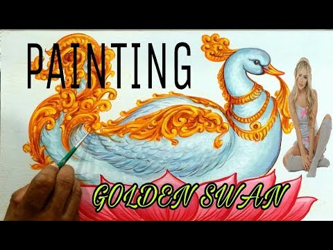 Acrylic Landscape Painting Lesson – The Swan in the Lake