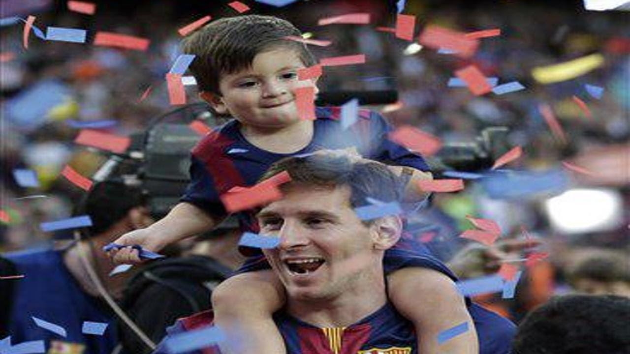 Leo Messi E Thiago ● Pai E Filho ● Hd