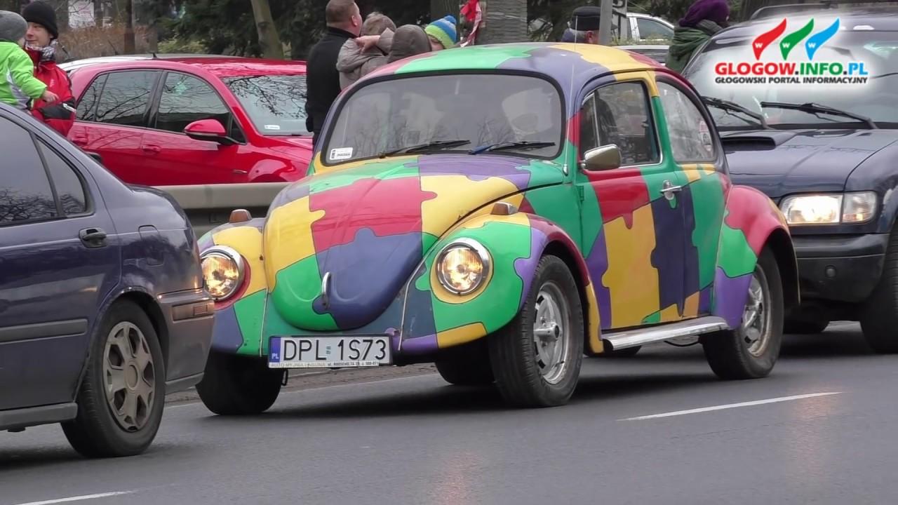 Parada samochodów dla WOŚP ulicami Głogowa