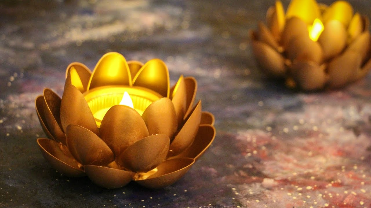 How To Decorate With Pictures: DIY T-light Holders- Diwali Decor