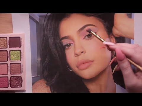 ASMR Putting Kylie Cosmetics on Kylie Jenner (makeup application)