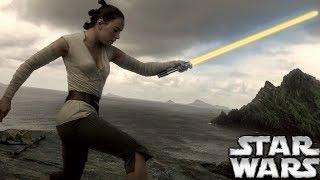 LEAKED Star Wars Episode 9 Rey's New Lightsaber Details!