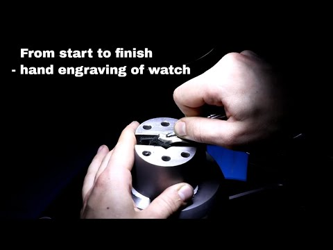 From start to finish - hand engraving of watch part 1 | Reinis Stripnieks