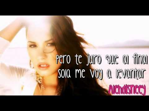 Demi Lovato  Rascacielos Skyscraper spanish version  Letra Lyrics