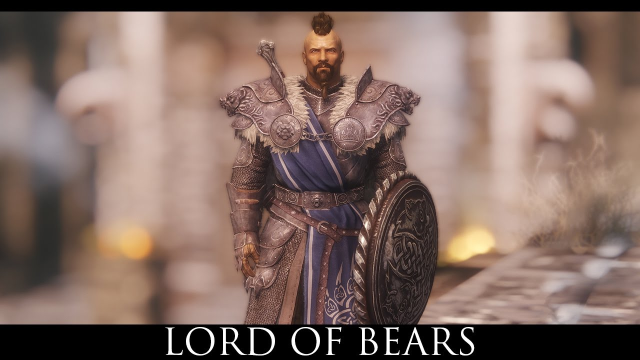 Tes V Skyrim Mods Lord Of Bears Stormlord Armor Retexture Youtube