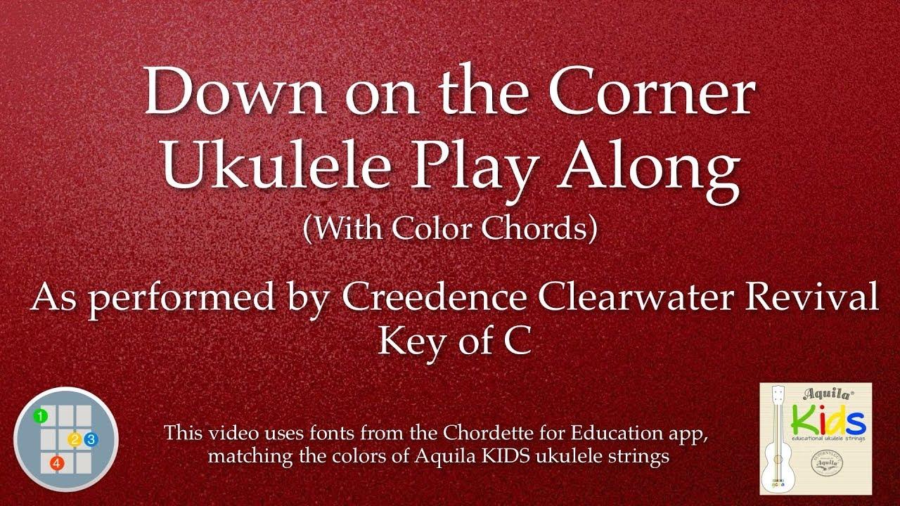 Down on the corner ukulele play along youtube hexwebz Image collections
